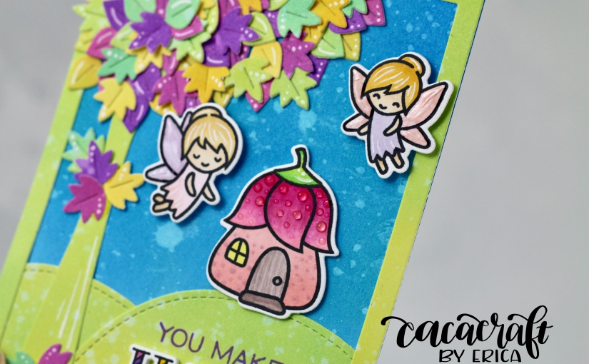 Bright pop of colourcard
