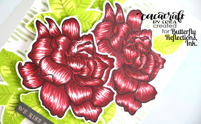 Friendship card with Altenew Build-a-FlowerGardenia