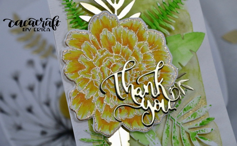 Big bloom cards with Studio Katia stamps and goldaccents!