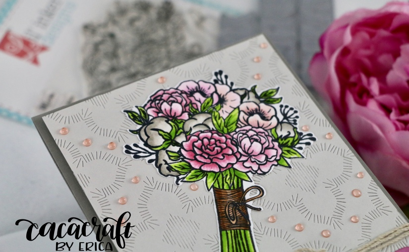 Soft gray and pinks with Lil'Inkers Bouquet of Roses for a GDgig!