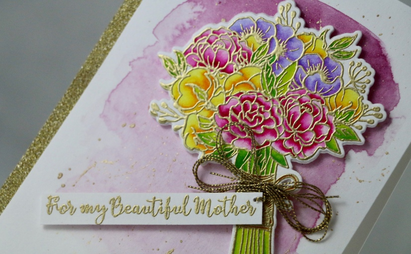 Bouquet of Roses card for my beautifulmother