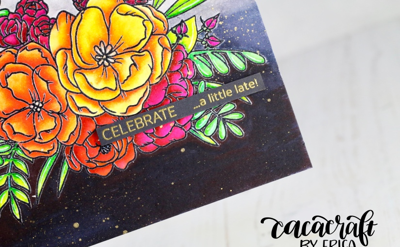 Studio Katia Lovely Blooms cards, two differentways