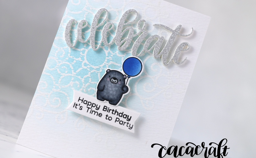 Clean And Simple birthday card with BittyBears