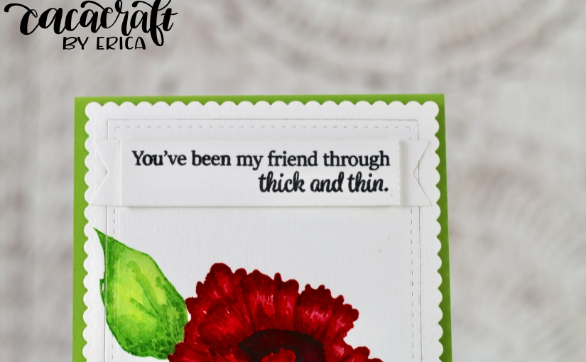 Bright bloom card with Gina K Designs and giveaway winnerannounced!