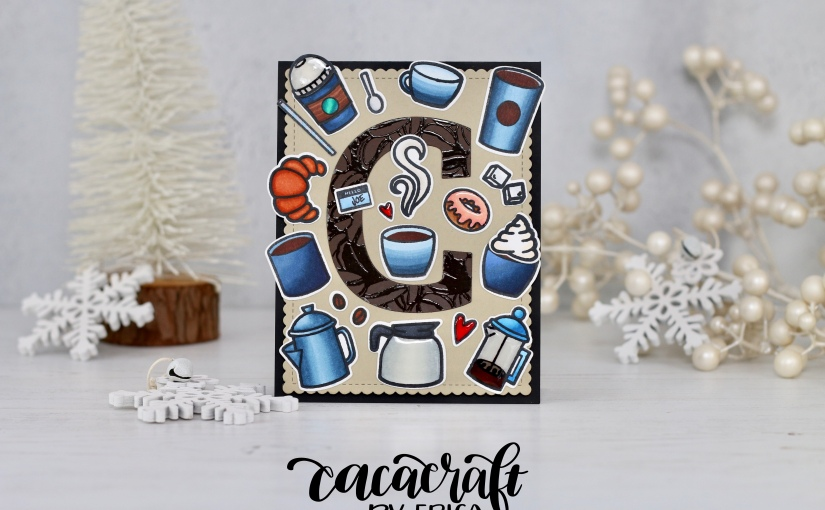 Joining in the Winter Coffee Lovers blog hop with a Trinity Stampscard