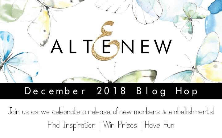 Altenew December 2018 Markers/Embellishments Release Blog Hop +Giveaway