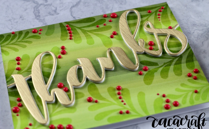 Announcing winner from Altenew Blog Hop and a Thank Youcard.