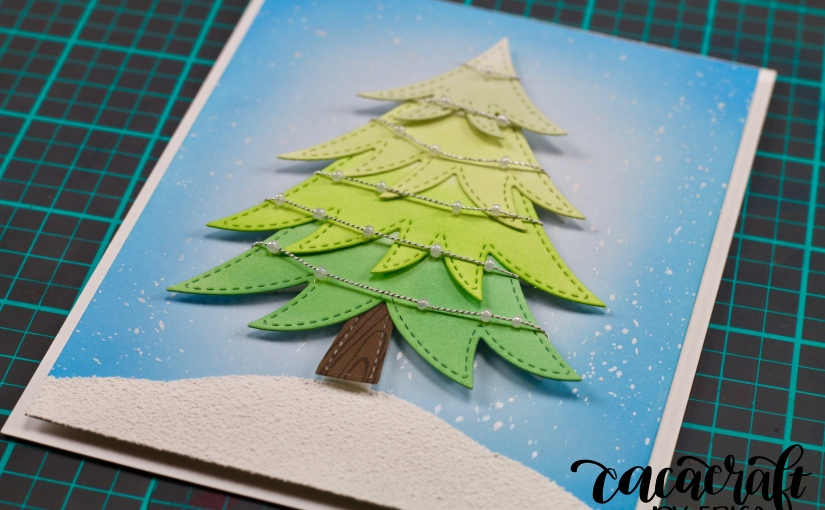 Playing with the Layered Tree diecut from Pretty PinkPosh!