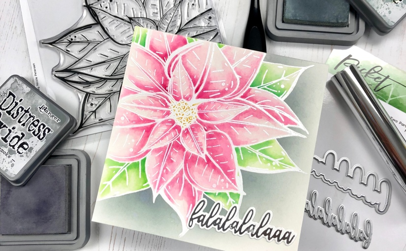 Picket Fence Studios September Release | Christmas Poinsettia Star stamp | Arteza Sketch TwiMarkers +Video