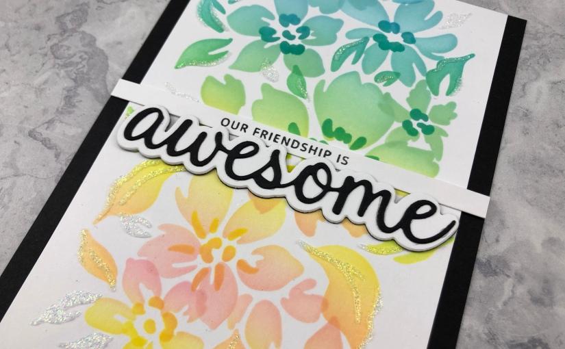Pinkfresh Studio Seamless Floral PatternCards