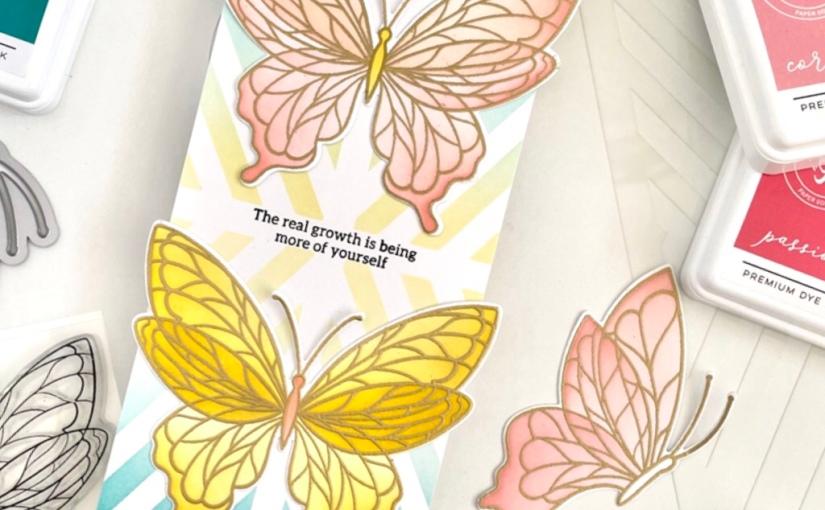 Results of a craftermath: Pinkfresh ButterfliesCard!