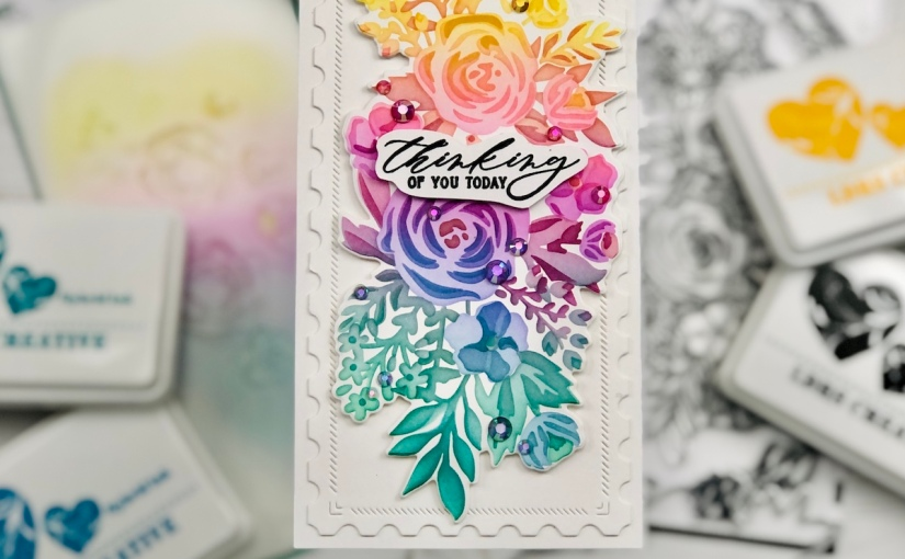 LDRS Garden Grandeur cards, two ways and DIYmini-slimline.